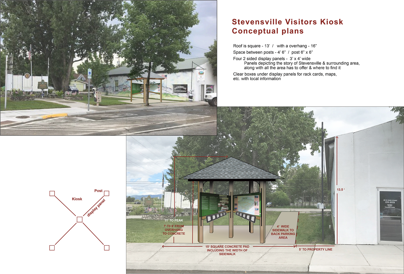 Kiosk and Wayfinding Projects - Stevensville Main Street